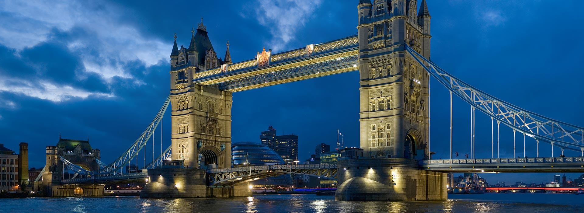 The Tower Bridge of London used as a slideshow picture.